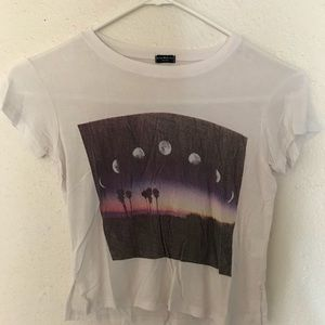 Rare Brandy Melville Moon Phases Cropped T-Shirt